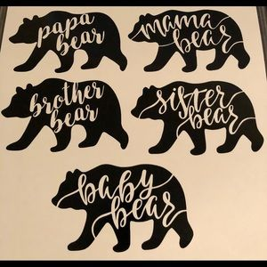Family Bear Decals